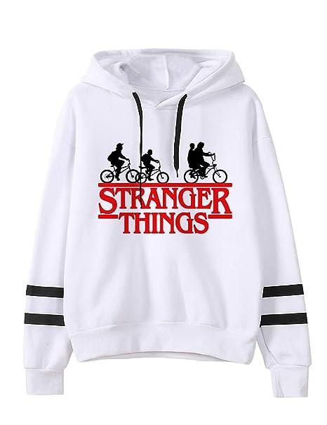Sweat Stranger Things Femme Unisexe Homme Gar/çon Sweat-Shirt a Capuche Ado Sport Base-Ball Sweat Shirt Hoodie Sweatshirt Fan de Stranger Things Pull Stranger Things Fille