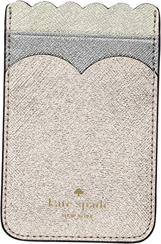 Triple Scallop - Kate Spade New York Scallop Triple Sticker Pocket, Rose Gold Multi, One Size