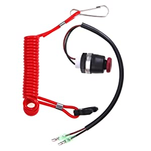 ZOOKOTO Kill Switch Cord, Outboard Engine Motor Kill Switch & Safety Tether Lanyard for Marine Mercury Tohatsu