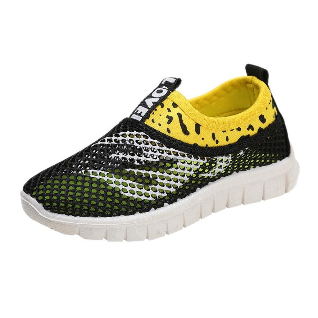 Sharemen Infant Kids Baby Boys Girls Mesh Fire Print Sport Run Sneakers Casual Shoes