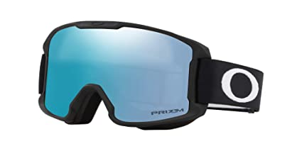 29a236489c1 Image Unavailable. Image not available for. Color  Oakley Line Miner Youth Snowmobile  Goggles - Matte Black Prizm Sapphire Iridium Small