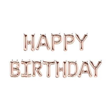 Globos para fiesta de cumpleaños, papel de aluminio ...
