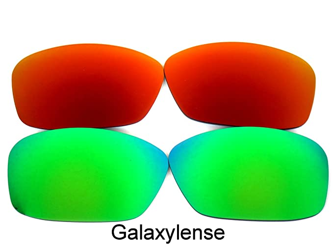 461158a858 Amazon.com  Galaxy Replacement Lenses for Oakley Hijinx Green Red ...
