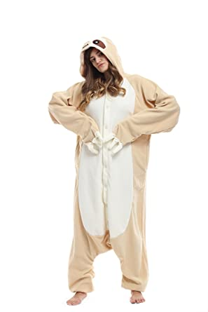 Sloth Kigurumi Pajamas- Unisex Costume Animal & Disney Character Pyjamas (M 155cm ~ 165cm