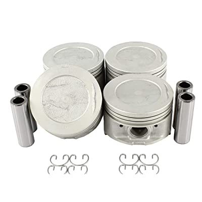 DNJ P900 Piston Set for 1985-1995 / Toyota / 4Runner, Celica, Pickup / 2.4L / SOHC / L4 / 8V / 2366cc / 22R, 22RE, 22REC: Automotive