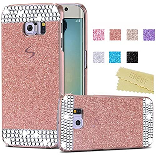 Galaxy S7 Edge Glitter Case(EB16001), Ebest Handmade Bling Crystal Rhinestone Hard Plastic Glitter Cover Case For Samsung Galaxy S7 Edge, Rose Gold with Sales