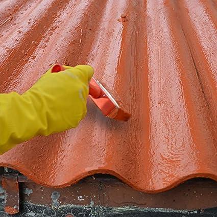 Bekannt Dachsanierung, Dachbeschichtung zum Abdichten von Eternit-Platten GA29