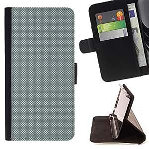 BullDog Case - FOR/Samsung Galaxy S6 EDGE / - / GRAY DOTS PATTERN /- Monedero de cuero de la PU Llevar cubierta de la caja con el ID Credit Card Slots Flip funda de cuer