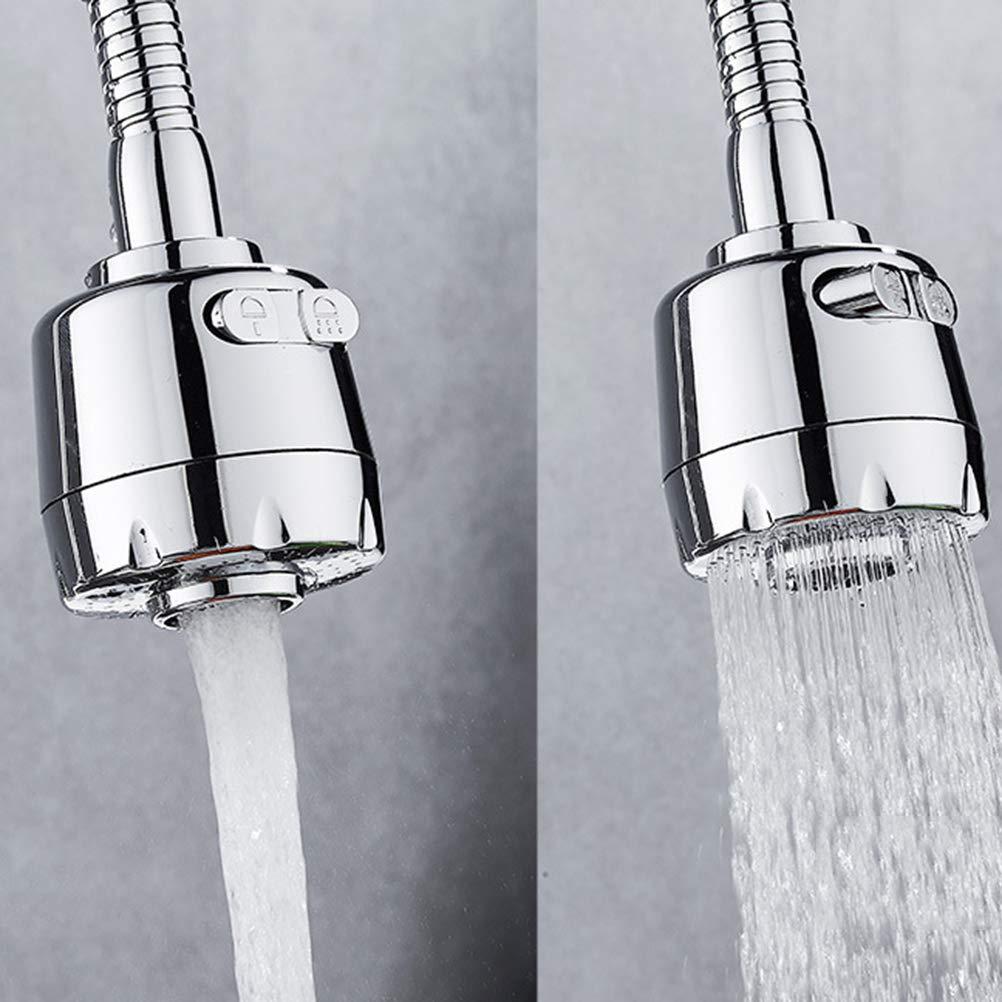 BESTONZON Robinet de buse de pulv/érisation d/économiseur deau de filtre de prolongateur de douche de robinet argent