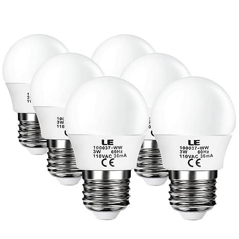 Le 3 W G14 E26 bombillas LED, Equivalente a bombilla incandescente de 25 W, no regulable, ...