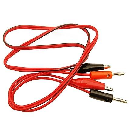1 m 2 en 1 Cocodrilo Alicate a Banana Cable de prueba Par para multímetro