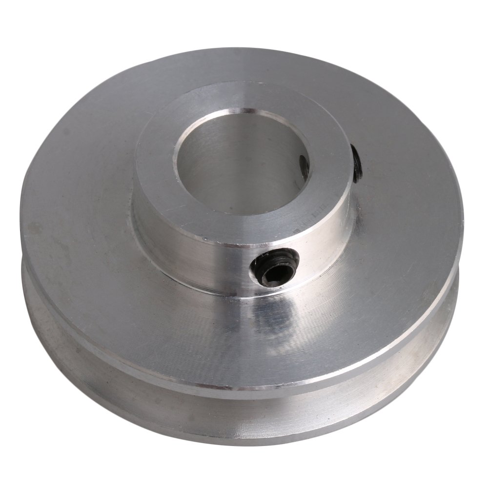 CNBTR 4.1x1.6x1.2cm Silver Aluminum Alloy 1.2cm Fixed Bore Single Groove V-Shape Pulley Wheel for Motor Shaft 0.3-0.5cm PU Round Belt yqltd