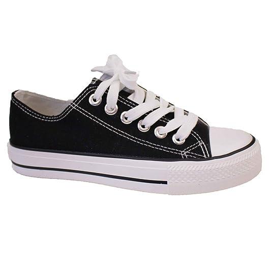 Zapatillas de mujer de tela con suela de goma: Amazon.es: Zapatos y complementos