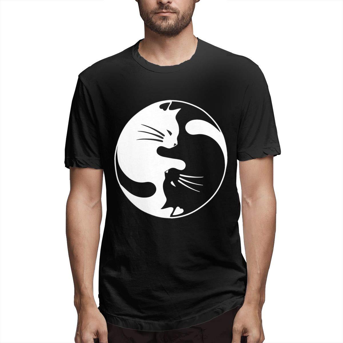Yin Yang Cat Men's Short Sleeve Shirts