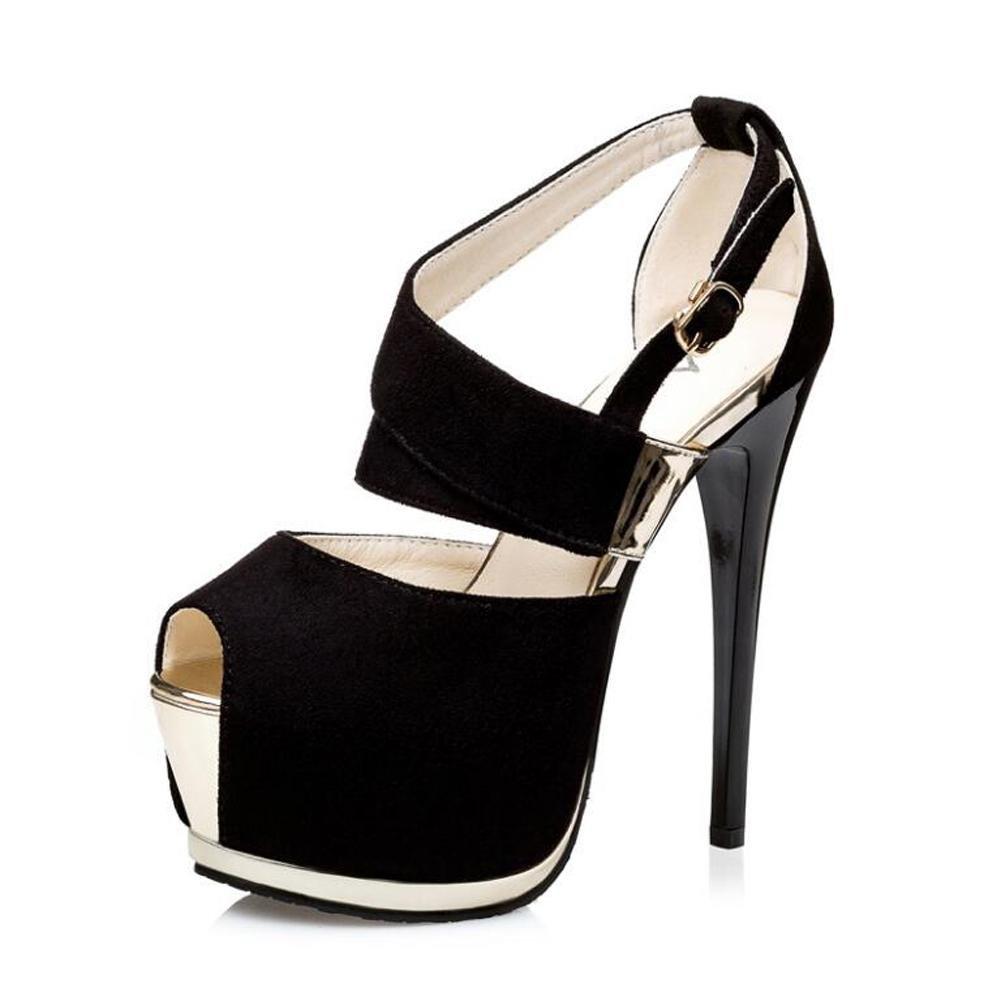 Chaussures avec à Talons Talons Hauts Pour Femmes avec Sandales De De Danse à Bouche Creuse black ce6692b - gis9ma7le.space