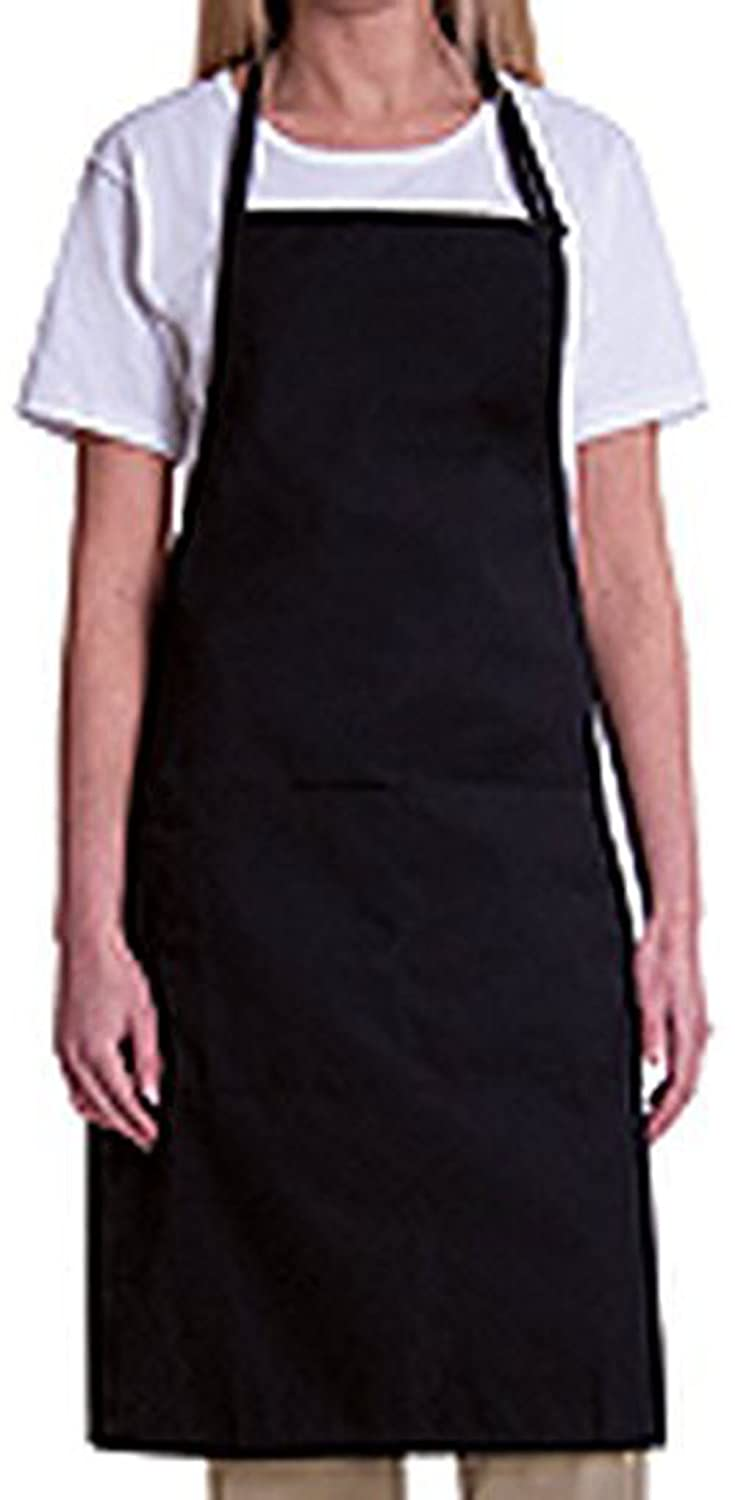 よだれかけaprons-mhf aprons-2 Piece pack-new Spun poly-commercialレストランkitchen-plainポケットなし   B072FMQKJ7