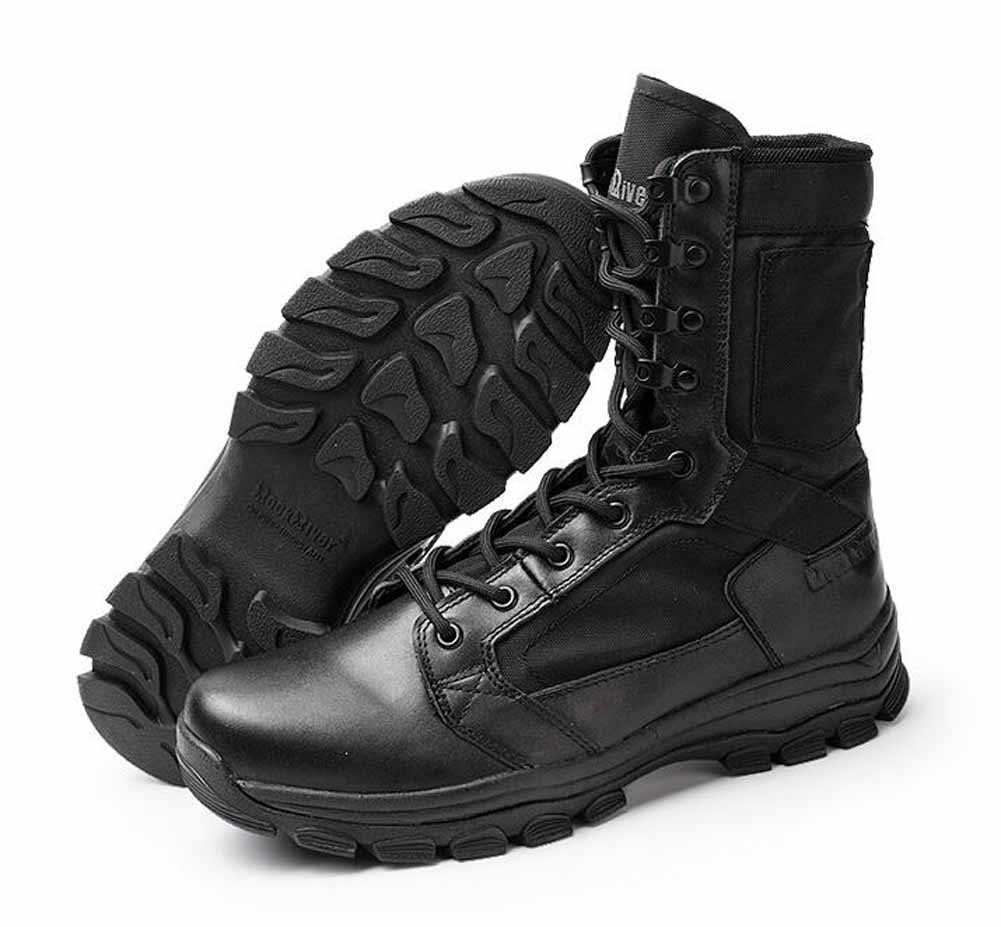 SHIXRAN Männer Schnüren Taktische Stiefel Ultra-Light Military Stiefel Wüstenstiefel High Rise Breathable Piercing Stiefel
