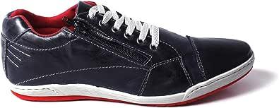 Tênis Sapatenis Masculino Tchwm Shoes Casual Em Zíper e Couro Cores