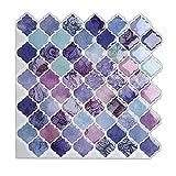 "Magictiles Stick on Tile for Wall Decoration, Peel and Stick Backsplash Tile , 10"" x 10"" (10 Tiles)"
