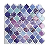 Magictiles Self Stick Mosaic Tile for Kitchen and Bathroom Backsplash , 10'' x 10'' (30 Tiles)
