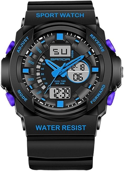 Sports Watches Relojes de Hombre 5297 LED Luz Nocturna y
