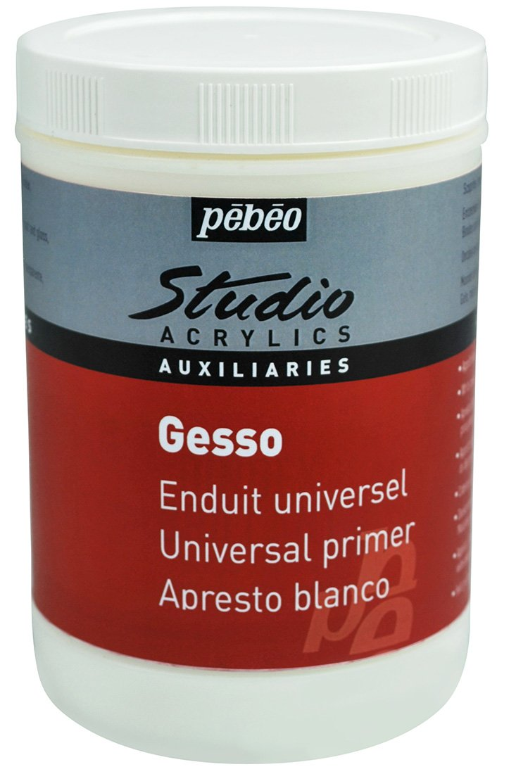PEBEO Studio Acrylics Auxiliaries, Gesso Universal Primer, 1 L - White by PEBEO