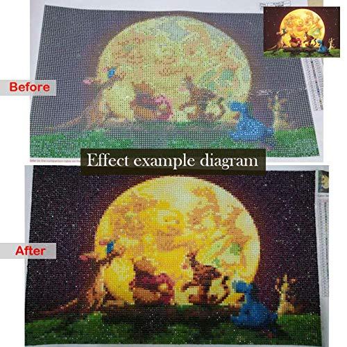 DIY 5D Diamant Malen nach Zahlen Kits Full Drill Kids Arts Craft Canvas Decor Bilder Mosaik-Kits f/ür Zuhause Eisk/önigin Elsa und Olaf 39,9 x 50 cm