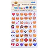 288 Pieces Emoji Stickers Smiley Face Stickers Notebook Sticker Party Supplies DIY Craft, Pack of 6 Sheets