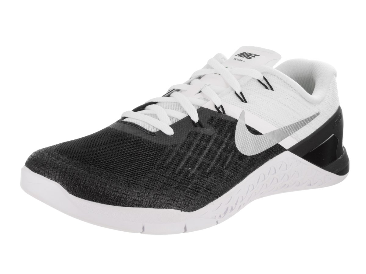 Nike Metcon 3 Mens Training Shoes B01FZ4Q47S 9.5 D(M) US|Black/White/Metallic Silver