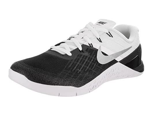 Nike Men's Metcon 3, BLACK/WHITE-WHITE-METALLIC SILVER, ...
