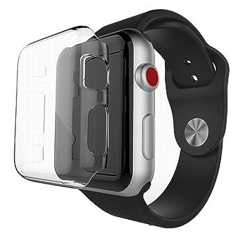 Hupoop - Carcasa rígida para Apple Watch Series 3 (42 mm/38 ...