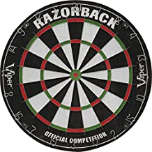 Viper by GLD Products 42-6006 Razorback Sisal/Bristle Steel Tip Dartboard with Staple-Free Spider