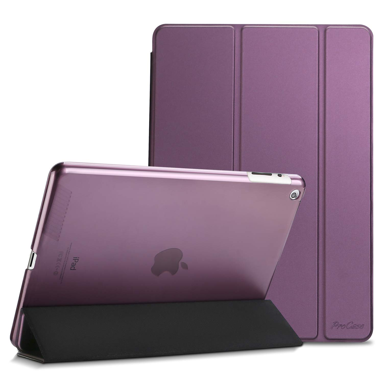 ProCase Funda iPad 4/3/2 - Estuche Libro Delgado con Smart Cover/Reverso Translúcido Esmerilado/Soporte Plegable para 9,7