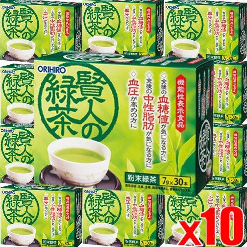 【10個】オリヒロ 賢人の緑茶7g×30包x10個(4571157252148-10)   B07DLLJSQX