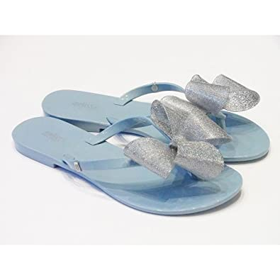 f9f5222fb Powder Blue PVC Flip Flops with Large Bow
