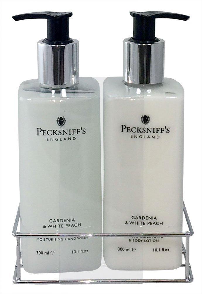 Pecksniffs Gardenia & White Peach Hand Wash and Body Lotion Set, 300ml 10.1 fl. oz. each LEPAC1344