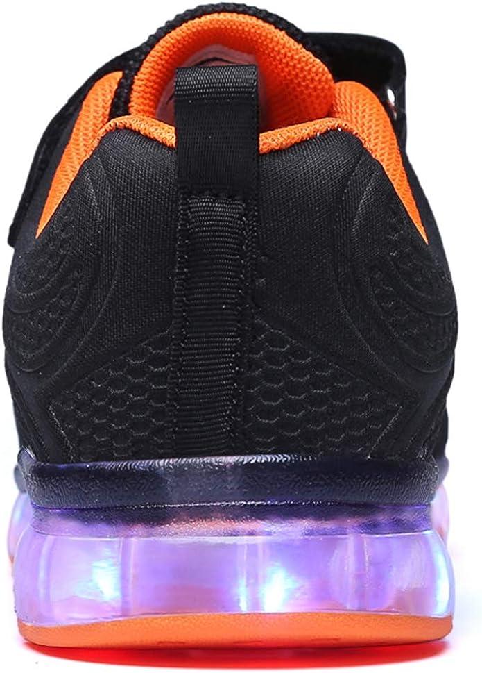 GJRRX Enfants LED Chaussures de Sport 7 Changement de Couleur Chaussure USB Rechargeable LED Lumineuse Baskets Mode Respirante Running Sneakers pour Gar/çons et Filles 27-37