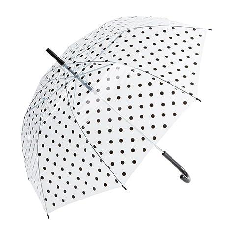 Transparente Lunares Tema paraguas, transparente y negro