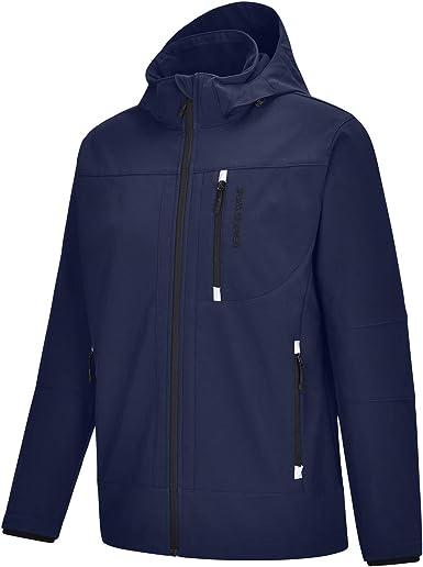 Autumn Unisex Jacket Casual Coat Waterproof Zipper Hat Detachable Polyester Warm