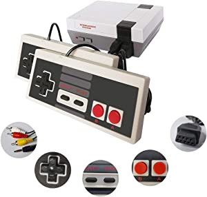 Classic Mini Retro Game Console with Built-in 620 Games and 2 NES Classic Controllers, AV Output Video Games for Kids, Children Gift, Birthday Gift Happy Childhood Memories