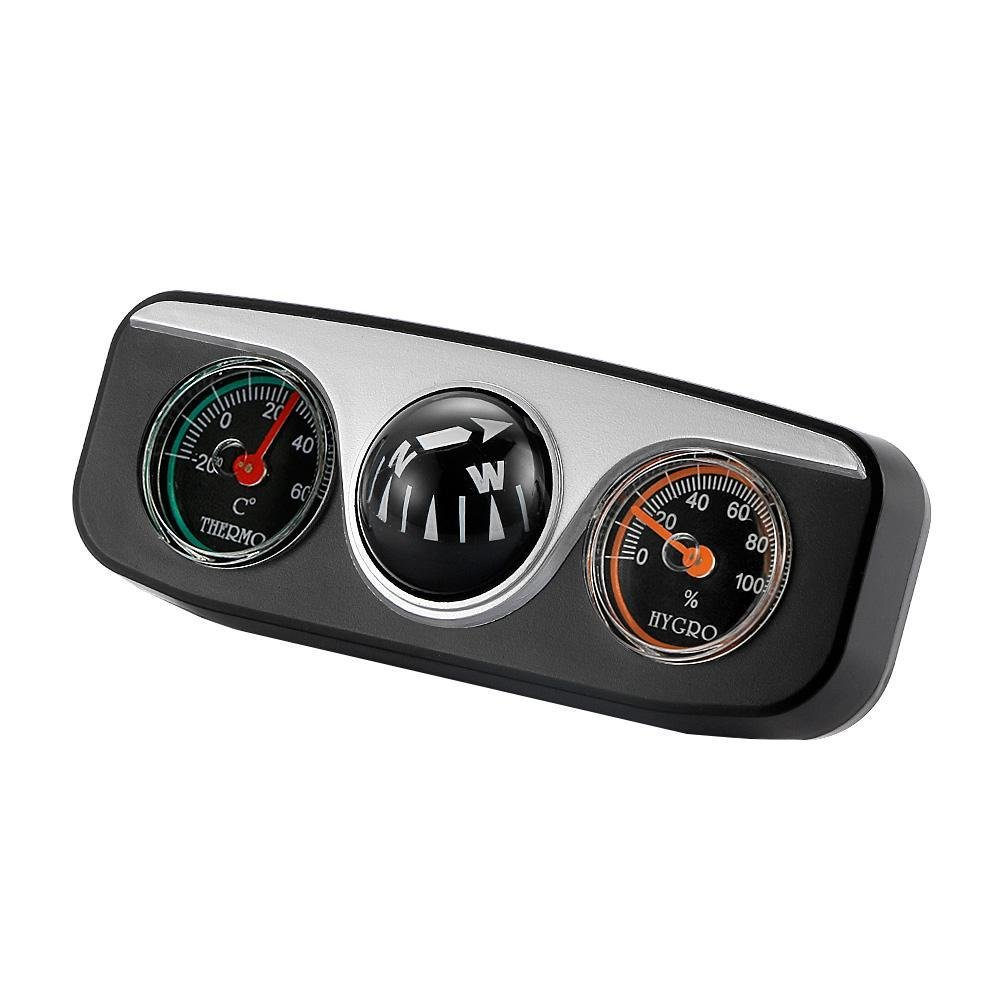 3in1 Guide Ball Navigation Compass Car Boat Truck RV Vehicles Auto Thermometer Hygrometer DAR BRLIGE