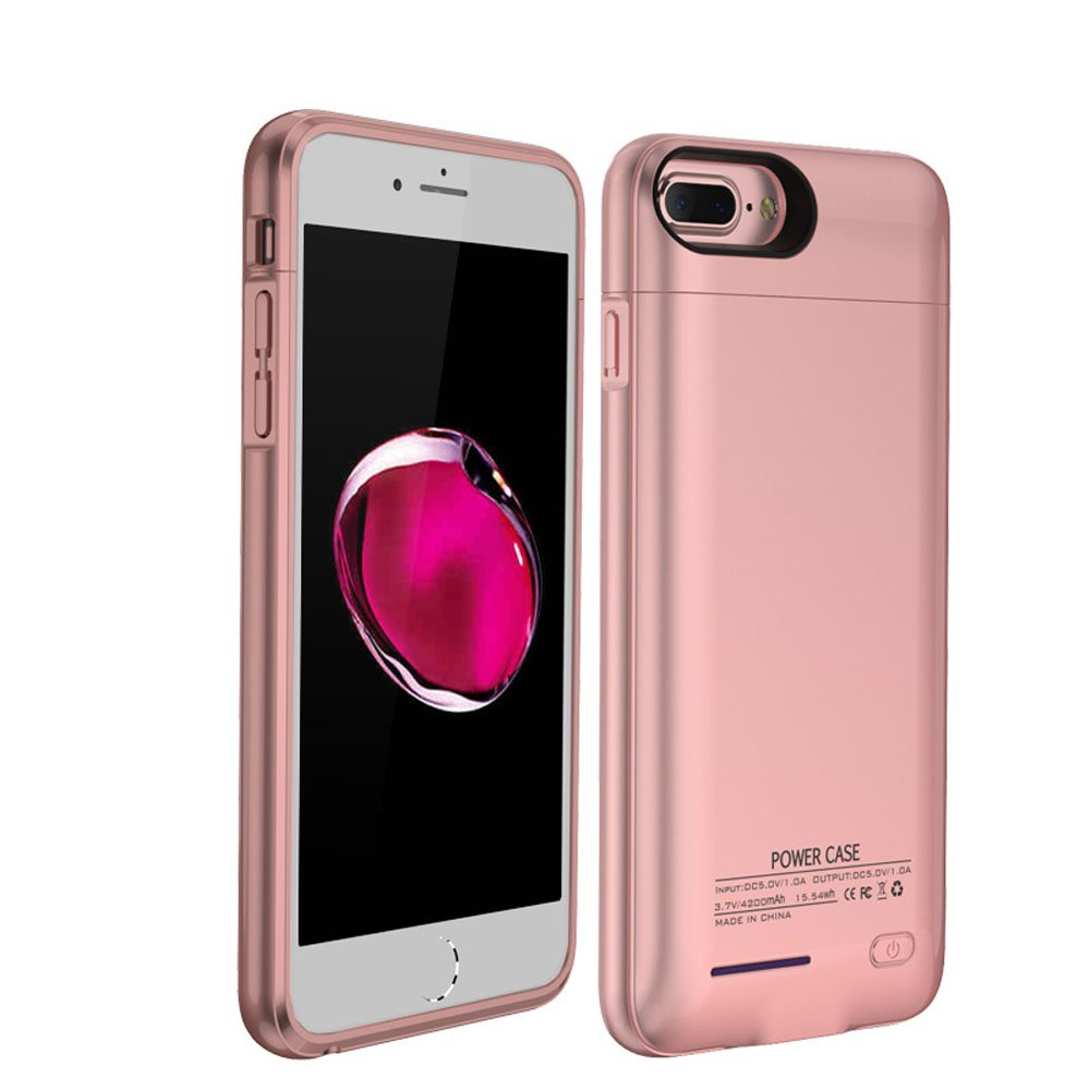 YFish Carcasa Batería Funda Magnética Batería Externa Recargable 4200mAh Cargador de Banco Energía de Móvil 5,5 pulgadas Para iPhone 6 plus/6s plus/7 ...