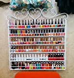 Dtemple 6 Layers Nail Polish Display Wall Rack, Professional Wall-Mount, Hold up to 108 Bottles, for Home Salon Bushiness Spa