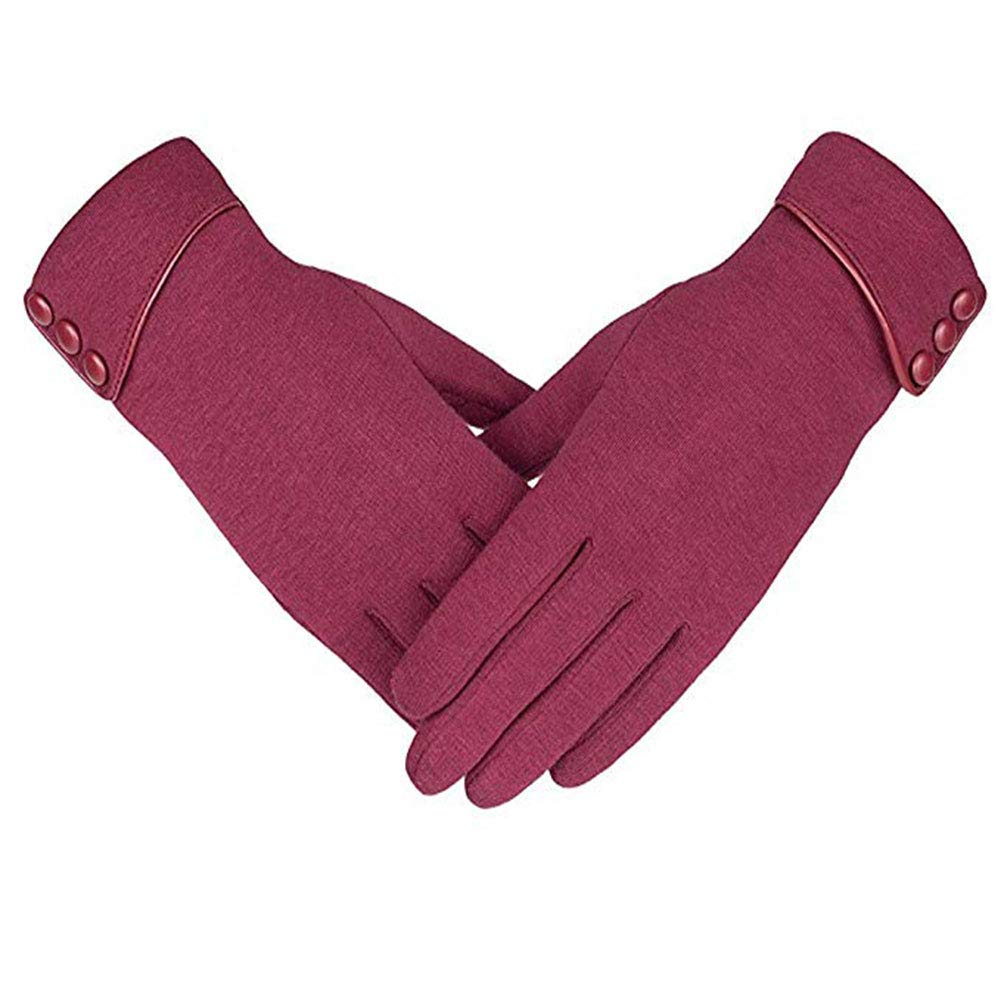 Secator Damen Touchscreen-Telefon Winddichte Handschuhe aus Fleece Warme Winterkleidung