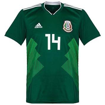 7da561517e4 Image Unavailable. Image not available for. Color  Mexico Home Chicharito  Jersey 2018   2019 ...