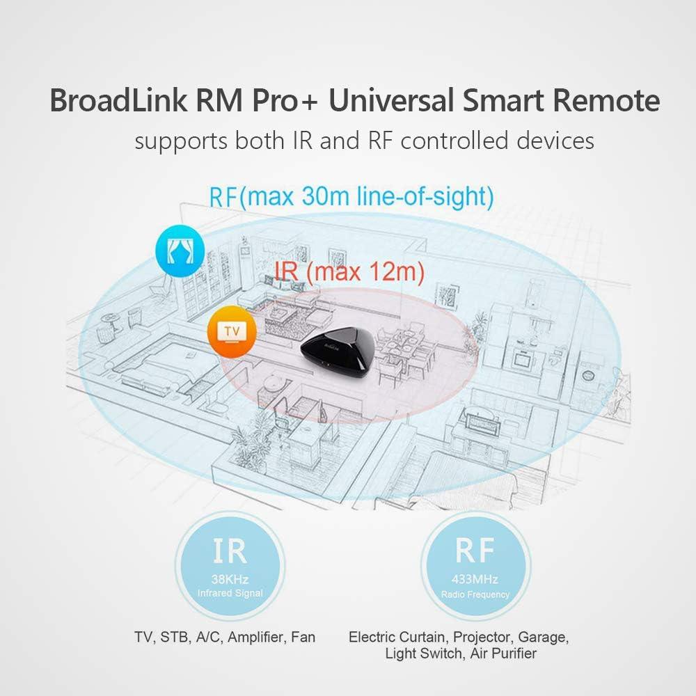 BroadLink RM Pro + WiFi Smart Home Hub, IR RF Todo en uno, Control Remoto Universal de Aprendizaje automatizado: Amazon.es: Electrónica
