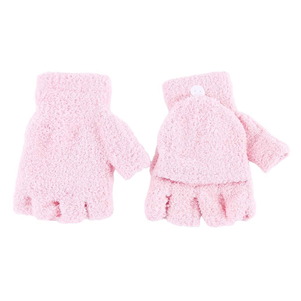 KISSFRIDAY Coral Samt Flip halbe Finger Handschuhe für Frauen oder Mädchen