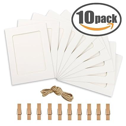 Amazon.com: Paper Photo Frame 4x6 Kraft Paper Picture Frames 10 PCS ...