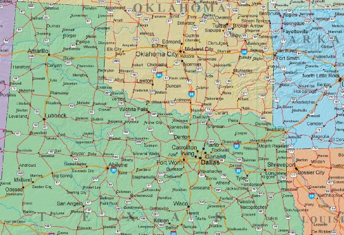 30x42 United States Decorator Wall Map - Laminated by Swiftmaps (Image #1)