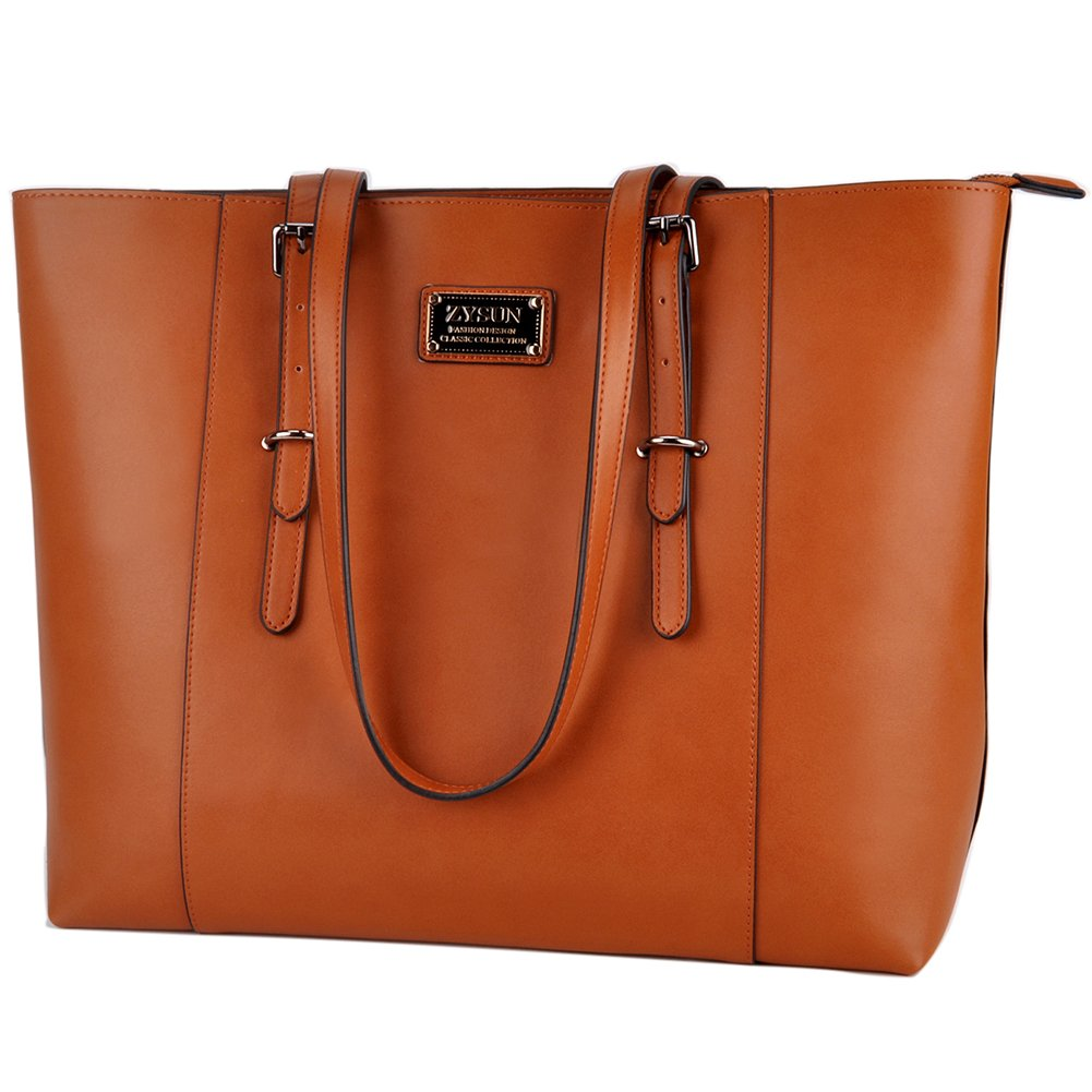 Laptop Tote,Women 15.6 in PU Leather Professional Laptop Bag with Comfortable Adjustable Straps